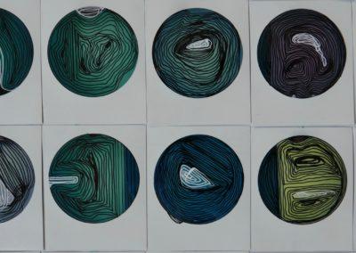 Life Cricles no.8 - Polaroid Circles - Billie Thackwell